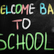 Stock Photo: Back to school blackboard