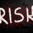 Risk handwritten with white chalk on a blackboard — Stock Photo