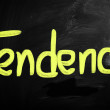 """Tendency"" handwritten with white chalk on blackboard — Stock Photo #28200993"