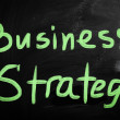 "Stock Photo: ""Strategy"" handwritten with white chalk on a blackboard"