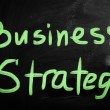 """Strategy"" handwritten with white chalk on a blackboard — Stock Photo #28201493"