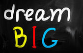 """dream big"" handwritten with white chalk on a blackboard — Stock Photo"