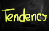 """Tendency"" handwritten with white chalk on a blackboard — Stock Photo"