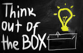 Thinking outside the box — Foto Stock