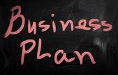 """Business plan"" handwritten with white chalk on a blackboard — Stock Photo"