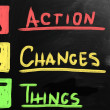 Stok fotoğraf: Action Changes Things