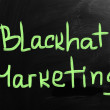 Marketing concept handwritten with chalk on a blackboard — Stok fotoğraf