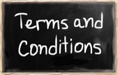 Terms & Conditions — Stock Photo