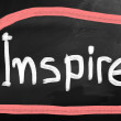 Stock Photo: Inspire handwritten with chalk on blackboard
