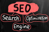 Search engine optimization ( SEO ) concept — 图库照片