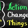 Action Changes Things — Stock Photo #29963641