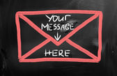 Your message here — Stock Photo