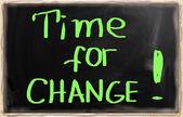 время для изменения концепции — Стоковое фото