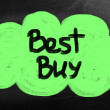Best buy handwritten with chalk on a blackboard — Stock Photo