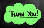 Thank you blackboard sign — Stock Photo