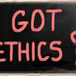 Stock Photo: Got Ethics?