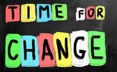 čas na změnu koncepce — Stock fotografie