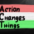 Action changes things — Stock Photo #30790817