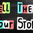 Tell them your story — Stock Photo