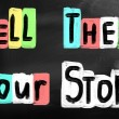 Stock Photo: Tell them your story