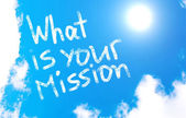 What is your mission? — Stock Photo