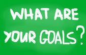 What are your goals? — Stock fotografie