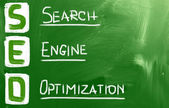 Search engine optimization ( SEO ) concept — Stock Photo