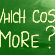 Which Costs More? — Stock Photo
