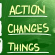 Stock Photo: Action Changes Things