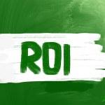ROI - Return On Investment — Stock Photo