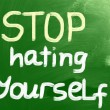 Stop Hating Yourself Concept — Stock Photo #32527213