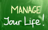Manage Your Life Concept — Stock Photo