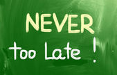 Never Too Late Concept — Stock fotografie