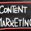 concetto di marketing contenuto — Foto Stock