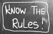 Conocer el concepto de reglas — Foto de Stock
