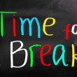 Time For A Break Concept — Stock fotografie