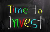 čas investovat koncept — Stock fotografie