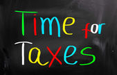 Time For Taxes Concept — Foto Stock