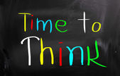 Time To Think Concept — Foto de Stock