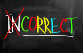 Correct Concept — Stock Photo