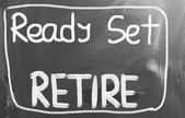 Ready Set Retire Concept — Stock Photo