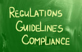 Compliance Guidelines Regulations Concept — 图库照片