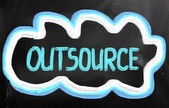 Outsourcing Concept — Stockfoto