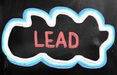 Lead-konzept — Stockfoto