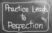Practice Leads To Perfection Concept — Stock Photo
