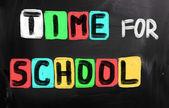 Tijd voor school concept — Stockfoto