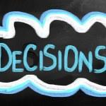 besluiten concept — Stockfoto