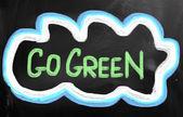 Koncepcja Przejdź zielony — Zdjęcie stockowe