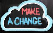 変更の概念を作る — ストック写真