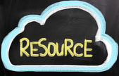 Resource Concept — Stock Photo